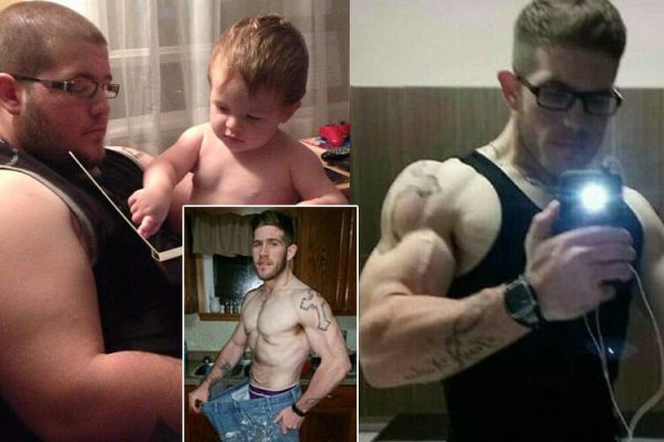 Overweight Father losing tons of weight