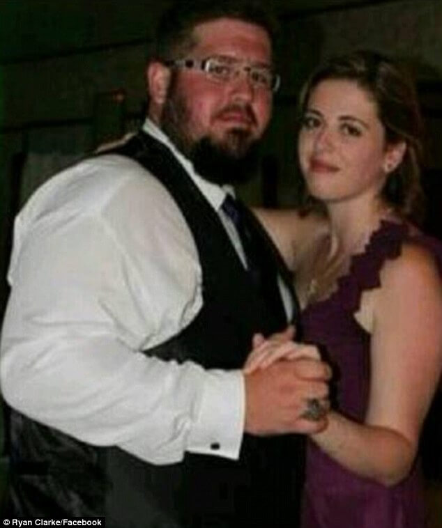 Ryan Clarke and His wife before massive weight loss