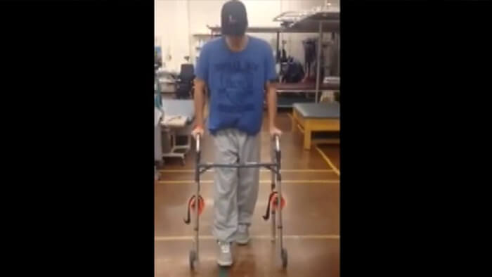 Bodybuilder beats the odds after a horrific accident
