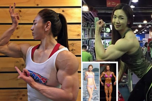 Korean Female Bodybuilder huge