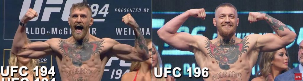 mcgregor weigh-in bulk