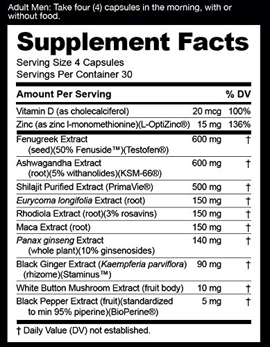 nugenix maxx ingredients
